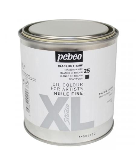 Tinta a Óleo Pebeo 25 Branco Titânio 650ml