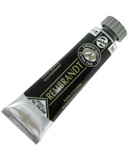 Tinta Óleo Rembrandt 15ml 701 Ivory Black - Série 1