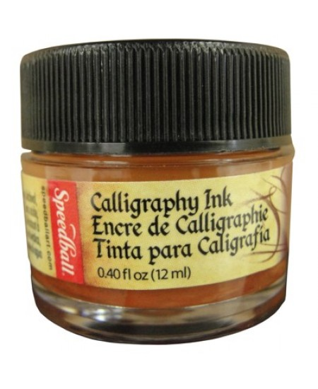 Tinta Para Caligrafia 12ml Speedball 3104 Terra Siena