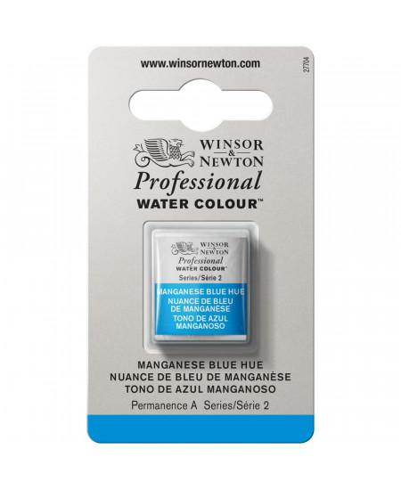 Tinta Aquarela Profissional Winsor & Newton Pastilha S2 379 Manganese Blue Hue
