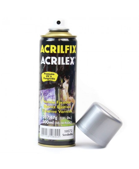 Verniz Spray Fixador Acrilfix Semi Brilho Acrilex 210g