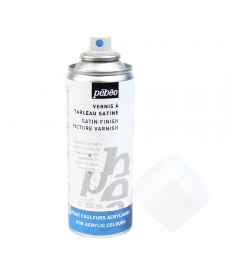 Verniz Spray Para Tinta Acrílica Satinado Pébéo 200 ml