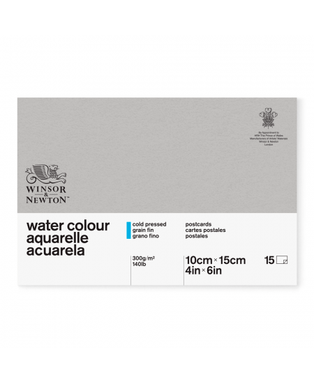 Bloco Para Aquarela Postcards Winsor & Newton 10x15cm 15 Folhas