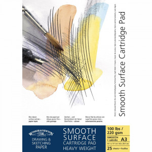 Bloco Papel Winsor & Newton Smooth Surface 220g A5