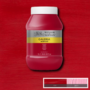 Tinta Acrílica Galeria Winsor & Newton 1L 203 Crimson