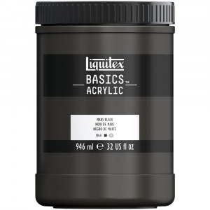 Tinta Acrílica Liquitex Basics 946ml 276 Mars Black