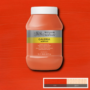 Tinta Acrílica Galeria Winsor & Newton 1L 090 Cadmium Orange Hue