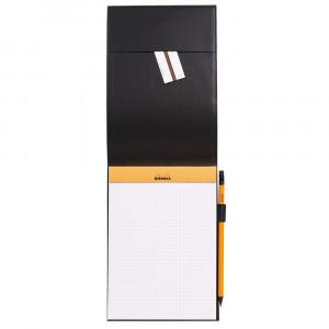 Bloco de Notas Rhodia 15,5x22cm N°16 Capa Couro Preto