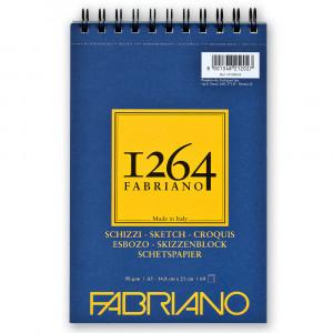 Bloco de Papel Fabriano 1264 Sketch 90g/m² A5 60 Folhas