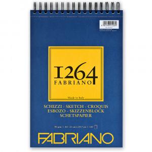 Bloco de Papel Fabriano 1264 Sketch 90g/m² A4 120 Folhas