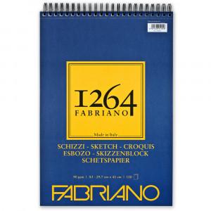 Bloco de Papel Fabriano 1264 Sketch 90g/m² A3 120 Folhas