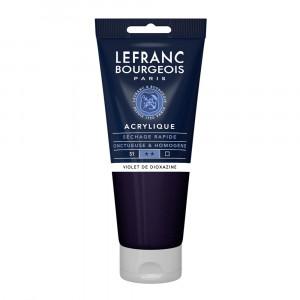 Tinta Acrílica Lefranc & Bourgeois 200ml 473 Dioxazine Violet