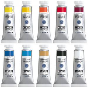 Tinta Guache Lefranc & Bourgeois Linel 14ml 10 Cores