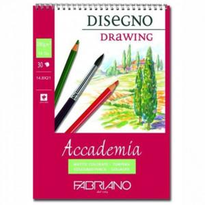 Bloco de Papel Fabriano Drawing 200g/m² 14,8x21cm 30 Folhas