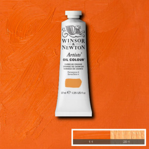 Tinta Óleo Artist 37ml Winsor & Newton S4 089 Cadmium Orange