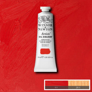 Tinta Óleo Artist 37ml Winsor & Newton S4 094 Cadmium Red