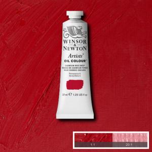 Tinta Óleo Artist 37ml Winsor & Newton S4 097 Cadmium Red Deep