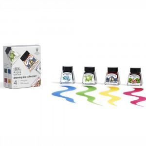 Tinta Para Desenho Winsor & Newton 14ml 4 Cores Vibrant Tones