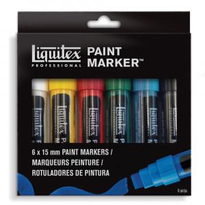 Estojo Marcador Liquitex Paint Marker 15mm 06 Cores Básicas