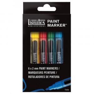 Estojo Marcador Liquitex Paint Marker 4mm 06 Cores Básicas