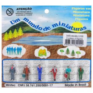 Figuras Para Maquetes 1/100 1605 Minitec 06 Peças