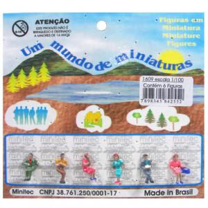 Figuras Para Maquetes 1/100 1609 Minitec 06 Peças