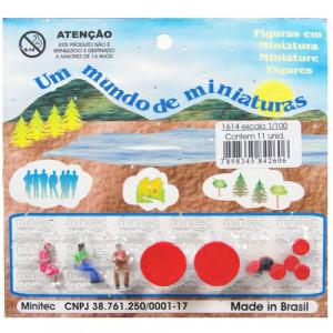 Figuras Para Maquetes 1/100 1614 Minitec 11 Peças