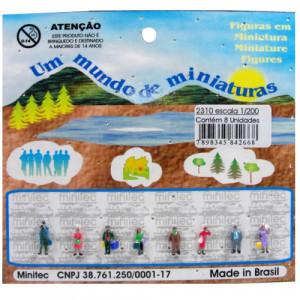 Figuras Para Maquetes 1/200 2310 Minitec 08 Peças
