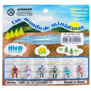 Figuras Para Maquetes 1/100 632 Minitec 06 Peças