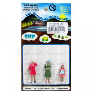 Figuras Para Maquetes 1/50 697 Minitec 03 Peças
