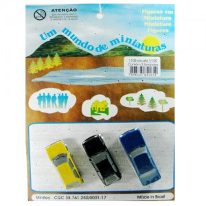 Miniatura de Carros 1/100 1108 Minitec 03  Peças