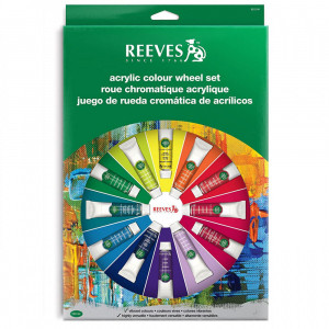 Estojo Tinta Acrílica Reeves Wheel Set 18 Peças