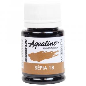 Aqualine Aquarela Líquida 18 Sépia 37ml Corfix