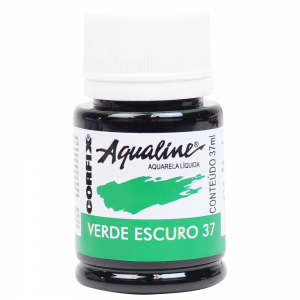 Aqualine Aquarela Líquida 37 Verde Escuro 37ml Corfix