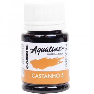 Aqualine Aquarela Líquida 05 Castanho 37ml Corfix