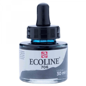 Aquarela Líquida Ecoline Talens 30ml 706 Deep Grey