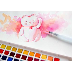 Tinta Aquarela em Pastilha KOI Sakura 96 Cores