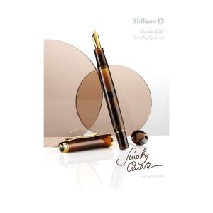 Estojo Caneta Tinteiro Pelikan GS-M200 Smoky Quartz Pena M