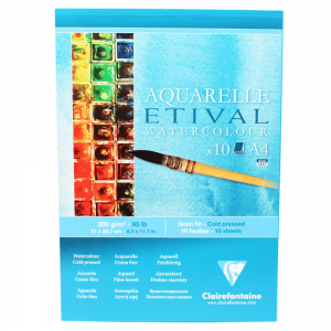 Papel Para Aquarela Etival A4 200g Clairefontaine