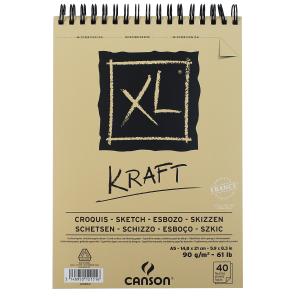 Bloco de Papel Canson XL Kraft 90g/m² A5