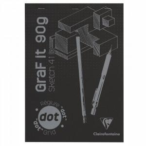 Bloco de Papel Pontilhado Para Desenho Graf It A4 160 Folhas Clairefontaine