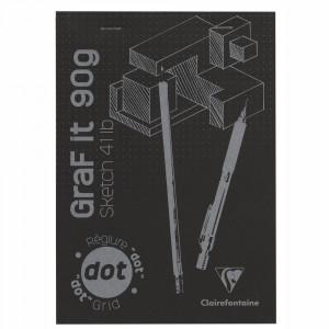 Bloco de Papel Pontilhado Para Desenho Graf It A5 160 Folhas Clairefontaine