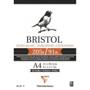 Bloco de Papel Desenho Bristol A4 205g/m² Clairefontaine