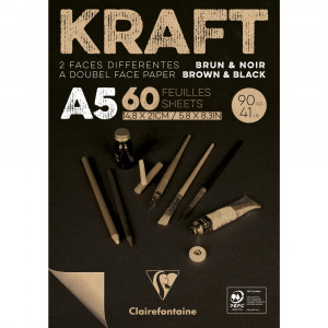Bloco de Papel Kraft Brown & Black Clairefontaine A5