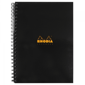 Caderno Note Book  Rhodia Capa Preta A4