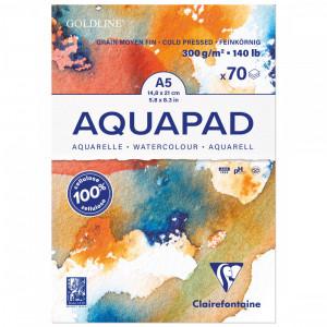 Bloco de Papel Para Aquarela Aquapad A5 300g Clairefontaine