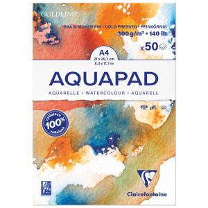 Bloco de Papel Para Aquarela Aquapad A4 300g Clairefontaine