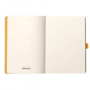 Caderno Goalbook Rhodia A5 90g 120 Folhas Pontilhado Coral