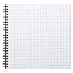 Caderno Quadriculado Reverse Rhodia 21X21cm Capa Preta