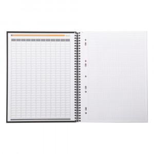 Caderno Note Book Rhodia Capa Preta A4+